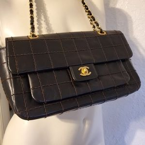 CHANEL Bags - Authentic Chanel Chocolate Bar Quilted Flap Bag